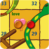 Play the educational snakes and ladders game.